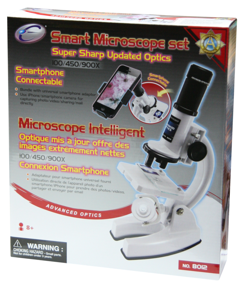 100/450/900X SMART MICROSCOPE SET (SMARTPHONE CONNECTABLE